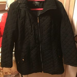Jackets & Blazers - Black and gold Quilted winter coat